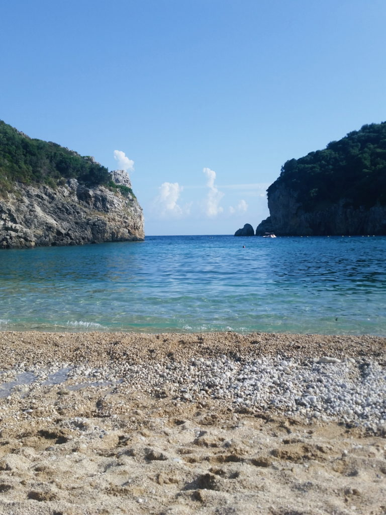 corfou plage de paleokastritsa
