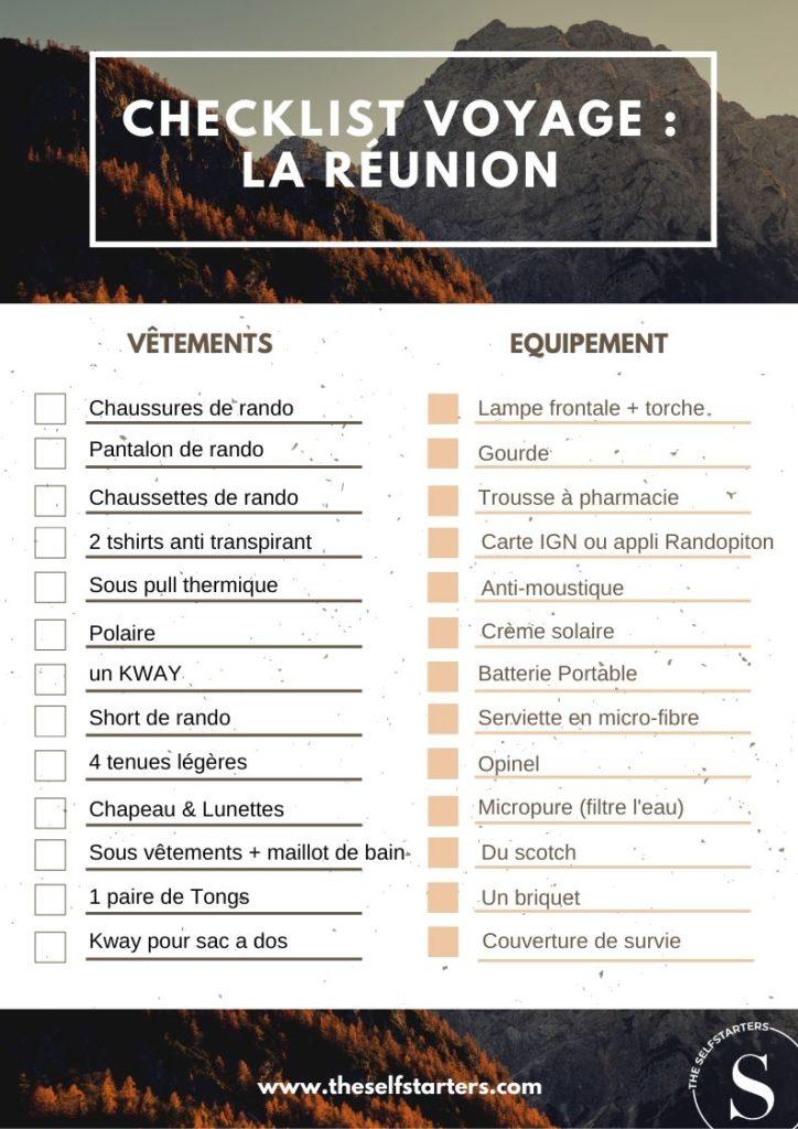 checklist voyage _ la réunion